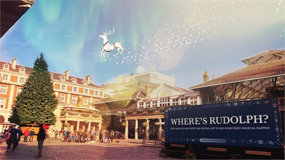 Phygital Xmas: Blippar's Mass-Brand AR Activation, London