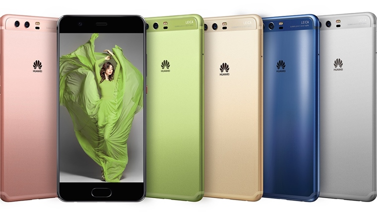 Huawei x Pantone P10 range including Greenery and Dazzling Blue