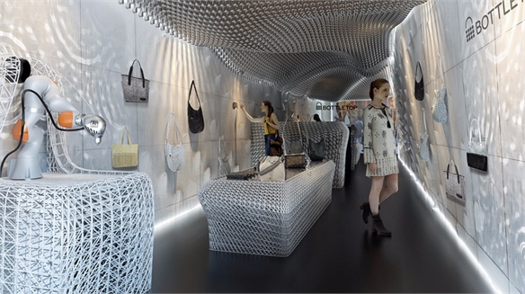 Green Retail Design: Robots 3D-Print Eco Store Interior
