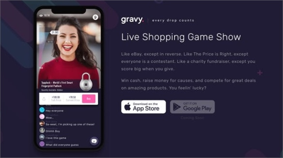 Live Shopping Show Gravy Hypes Gen Y with Gamified Discounts