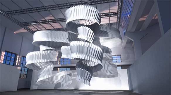 Kengo Kuma Sculpture Absorbs Pollution