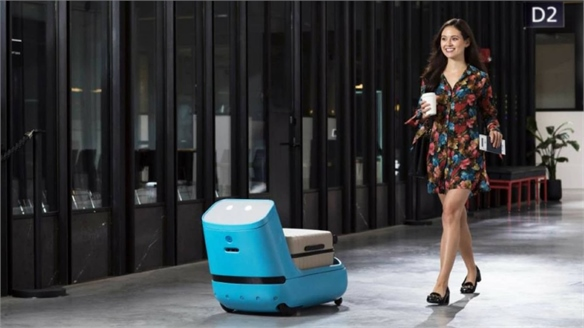 KLM's Robot Assistant Helps Passengers through the Airport