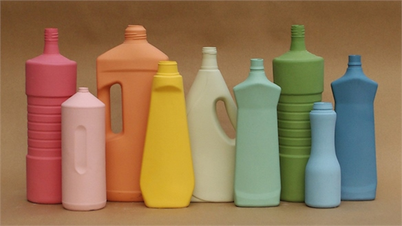 Coloured Porcelain transforms Household Bottles