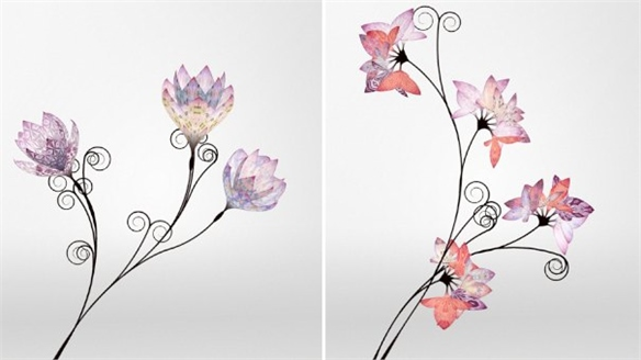 Digital flowers from Mulberry