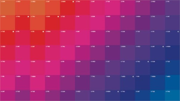 Chromo Colour Calendar