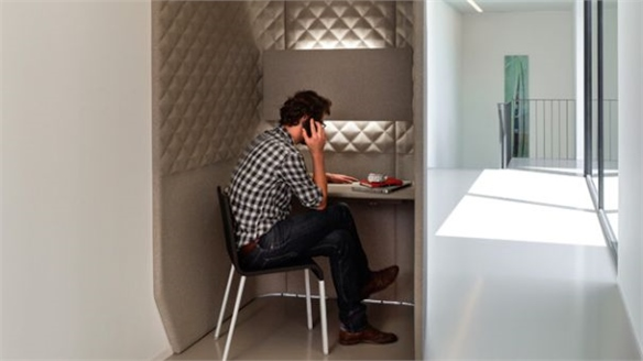 Sound-Absorbing Booths by Buzzi Space