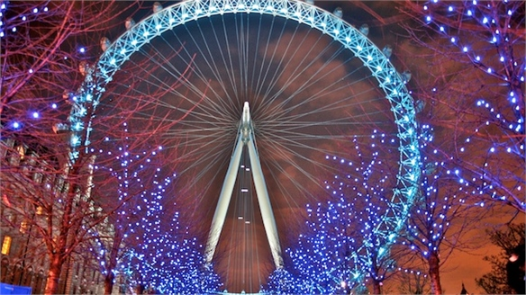 London Eye's Interactive Olympic Lightshow