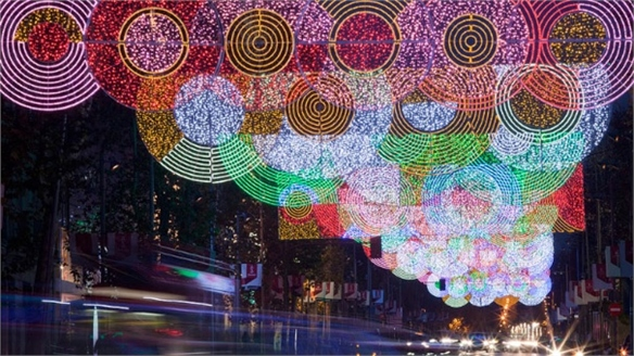 Madrid Christmas Lights by Teresa Sapey