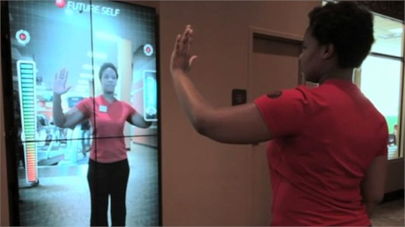'Future Self' Interactive Gym Monitor Walls