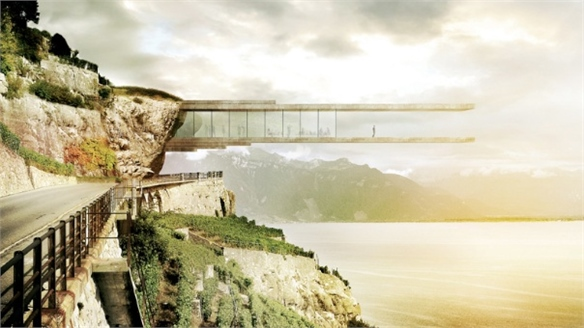 Cliff-Hanging Wine Museum, Switzerland