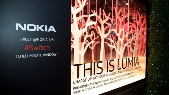 Nokia Unveils Interactive Window Display, London