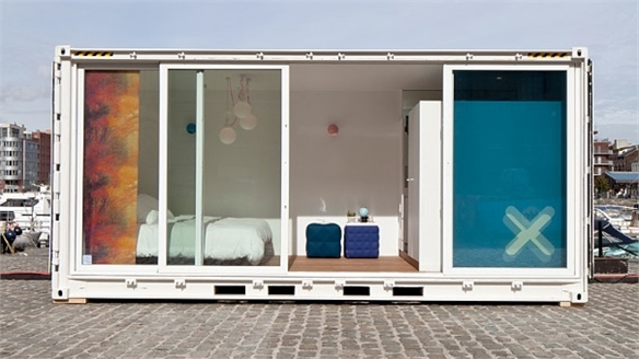 Design-Led Container Hotel Pops Up in Antwerp