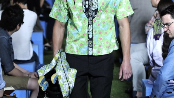 Country Club Florals at Prada Men's Show