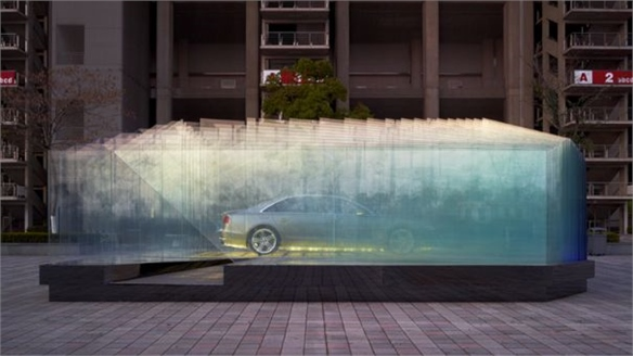 Audi's Architectural Glass Pavilion