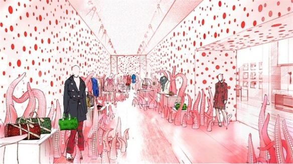 Louis Vuitton's Polka-Dot Pop-Up Refuels Temporary Trend