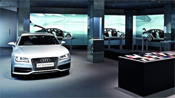 Custom Cars: Audi Debuts Digital Showroom, London