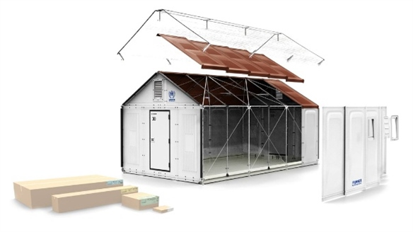 Flat-Pack Refugee Shelter by Ikea