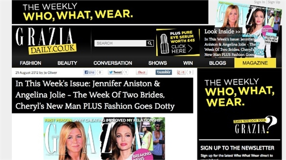 Magtailing Plus: Grazia Magazine Launches iPad Shopping