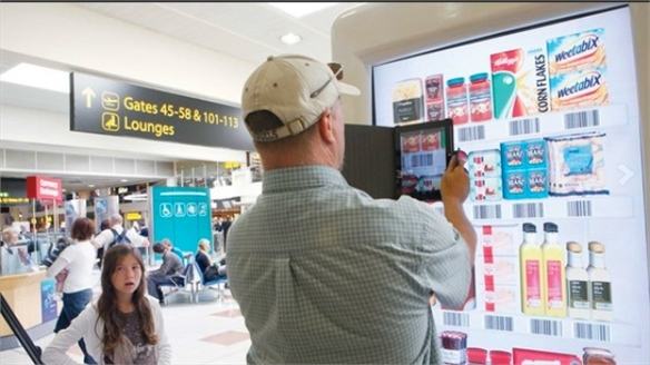 Tesco's Virtual Shopping Walls – Gatwick Airport, London