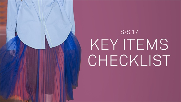 S/S 17: The Key Items Checklist