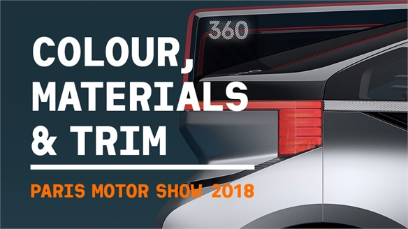 Paris Motor Show 2018: Colour, Materials & Trim