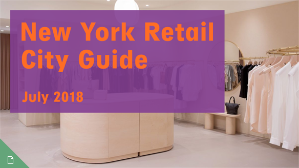 Retail City Guide: NYC, July 2018