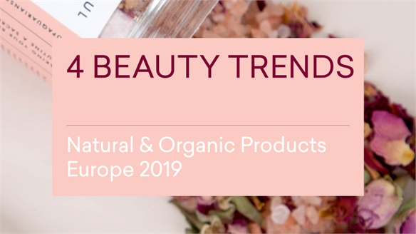 Natural & Organic Products Europe 2019: 4 Beauty Trends