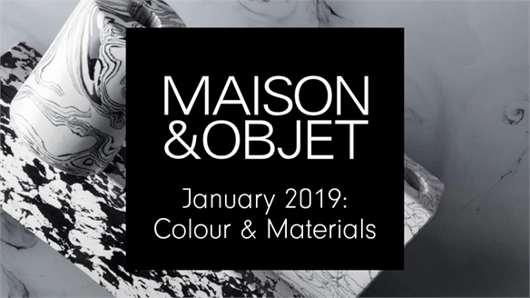 Maison & Objet Jan 2019: Colour & Materials