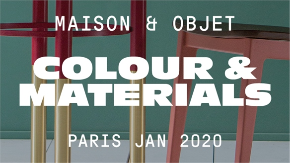 Maison & Objet Jan 2020: Colour & Materials