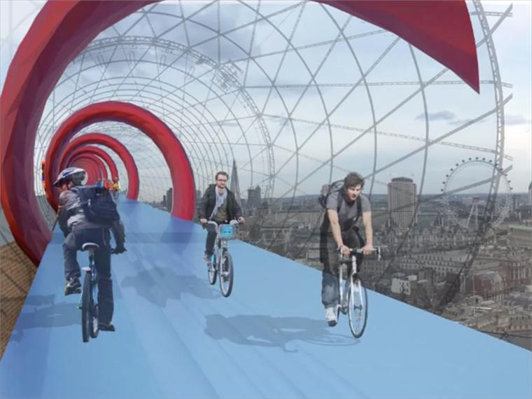 Skycycle  Cycle Lanes Above The City