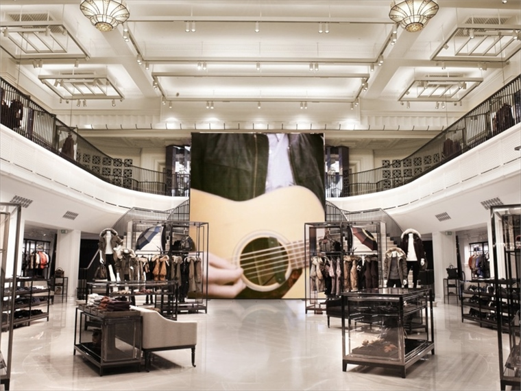 Burberry s high tech flagship london stylus for Tech house london