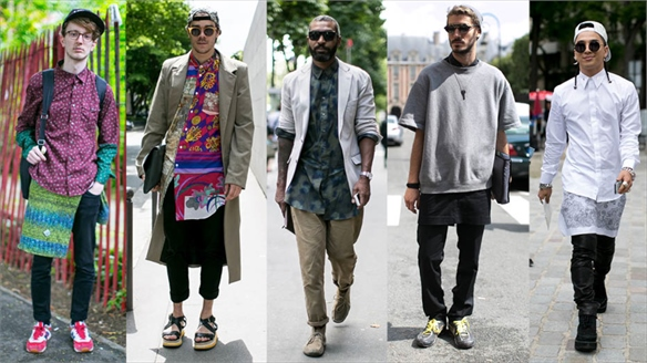 Men's Street Style: Shirt as Skirt Styling