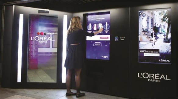 L'Oreal's Intelligent Subway Vending, NYC