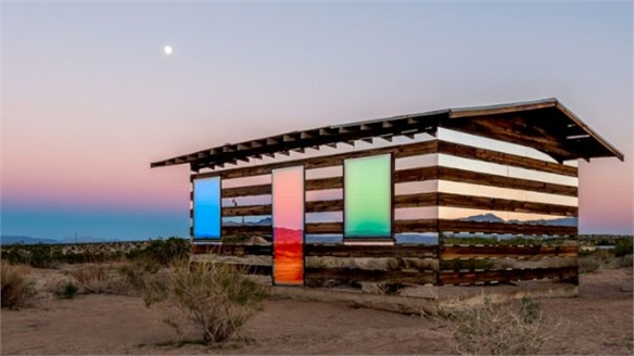 Lucid Stead Light Installation by Phillip K. Smith III