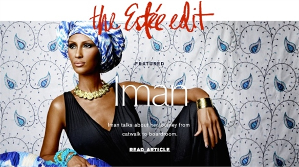 Estée Lauder: Editorialised E-Tail
