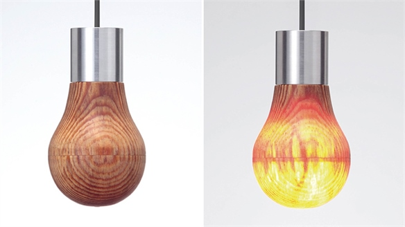Wooden Light Bulb: Ledon