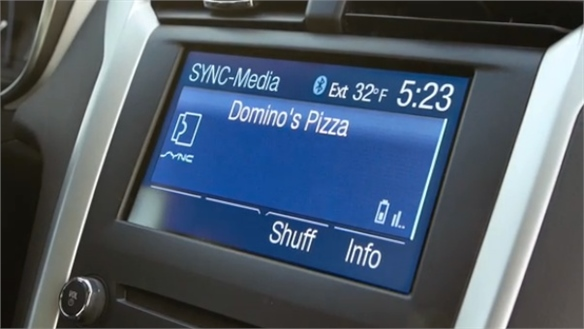 In-Car Hands-Free Pizza Purchasing