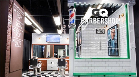 GQ Brings Barber to NY Sports Venue
