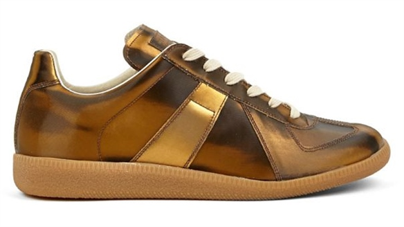 Maison Martin Margiela: Synthetic Gold Sneakers