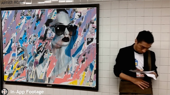 Augmented Reality App Layers Art Over Ads