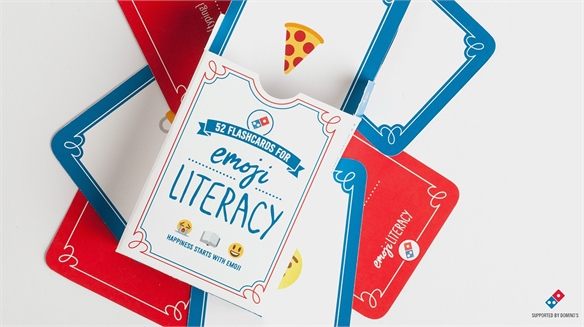 Domino's Emoji Literacy Cards