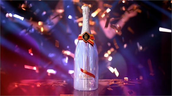 Interactive Champagne Bottle