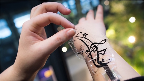 iSkin: Electronic Skin Stickers