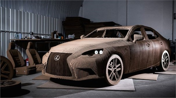 Lexus: Drivable Cardboard Car