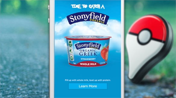 Stonyfield Unlocks Pokémon Go Moments