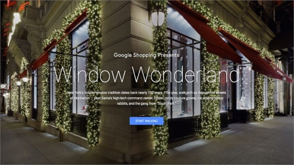 Google's Virtual Xmas Window Tour