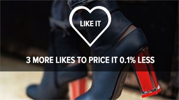 Miista's 'Like to Lower' Social E-Discounts Sales Concept