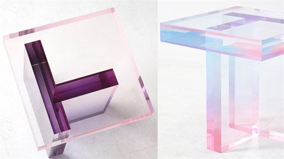 Pastel Resin Tables Resemble Crystal
