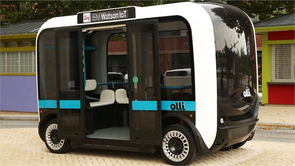 Olli: On-Demand Self-Driving Electric Bus
