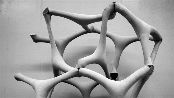 Robotic Construction: Fabric-Cast Concrete